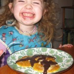 Coconut Flour Pancakes with Chocolate Cream Syrup